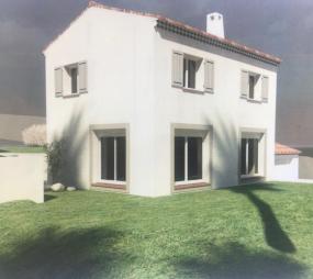 Terrain et maison à vendre au calme sur les plans de Carros