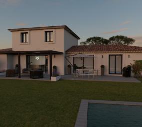 Terrain et Maison à vendre sur la commune de Tourettes-sur-Loup 06140