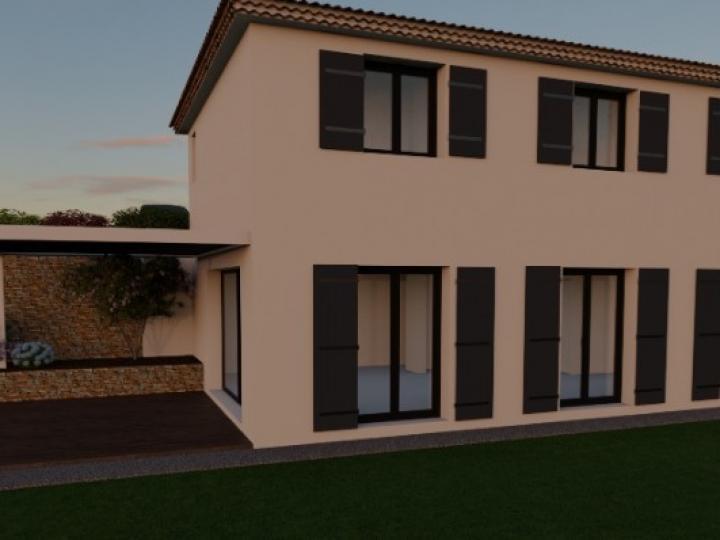 Terrain et maison à vendre sur la commune de la gaude 06610 - alpes maritimes